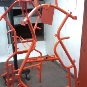 orange frame powder coat